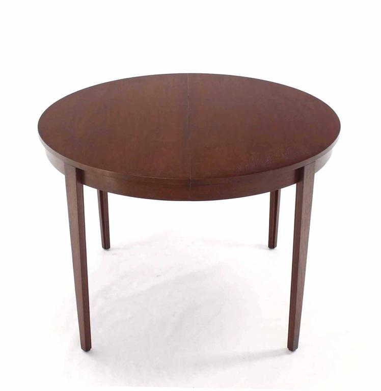 Round dunbar dining conference table four extension leaves for 3 leaf dining room tables