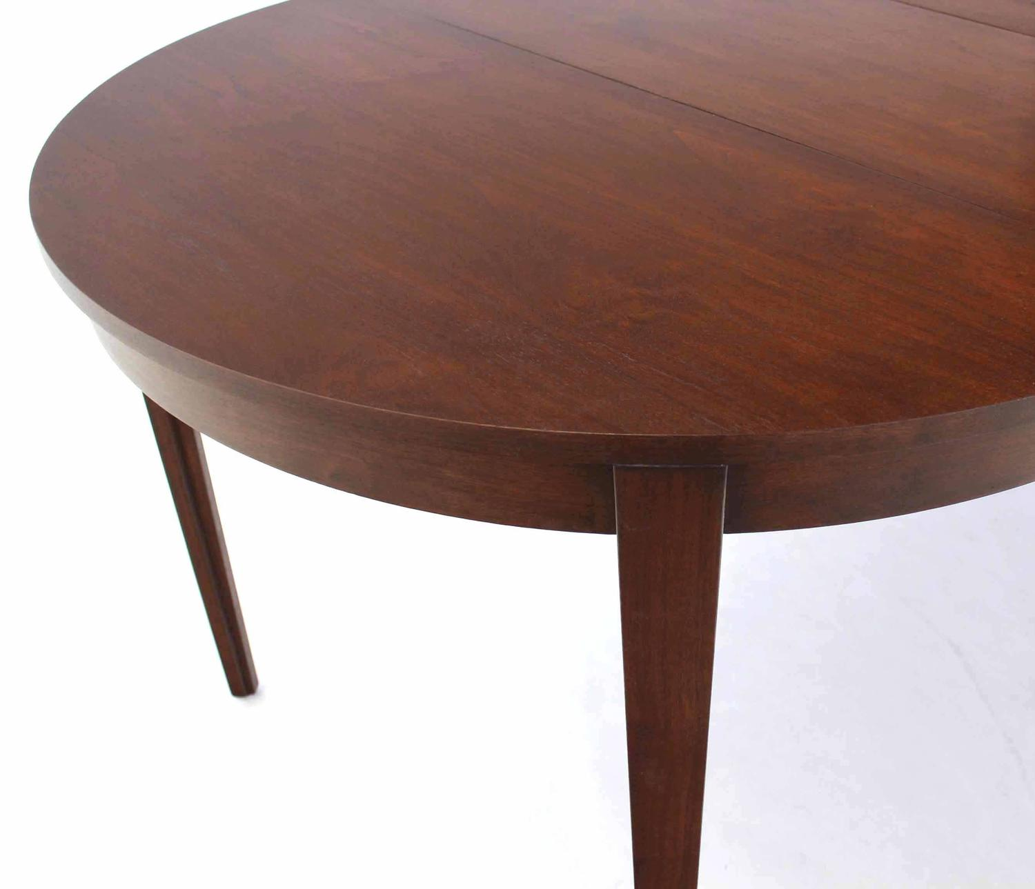 Round dunbar dining table with four extension leaves for for Dining room tables with leaves