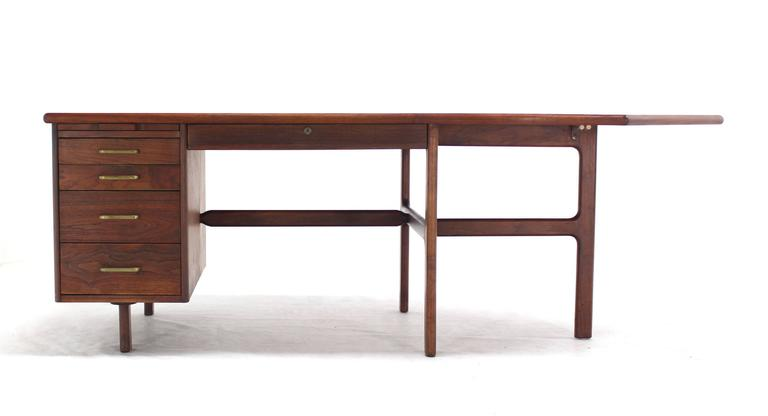 20th Century Danish Mid Century Modern Boomerang Shape Desk For Sale