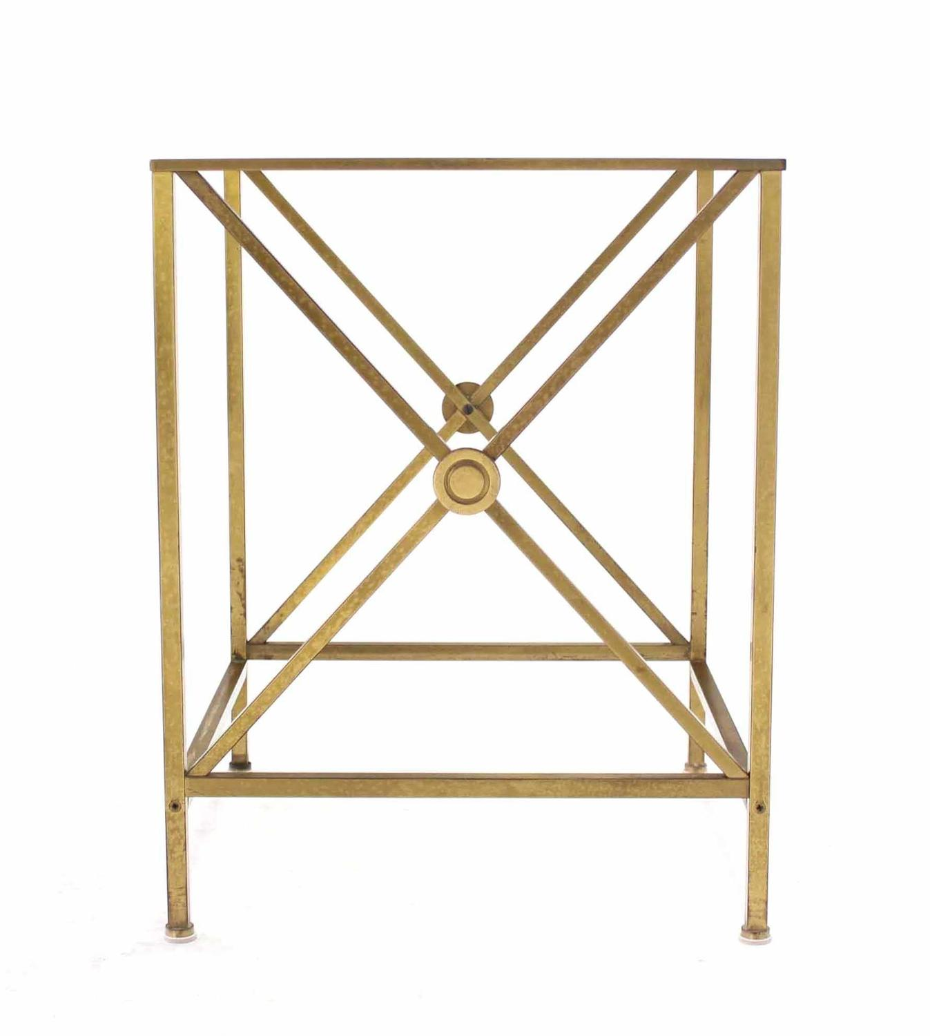 Brass cube shape x base side table for sale at 1stdibs - Cube table basse ...