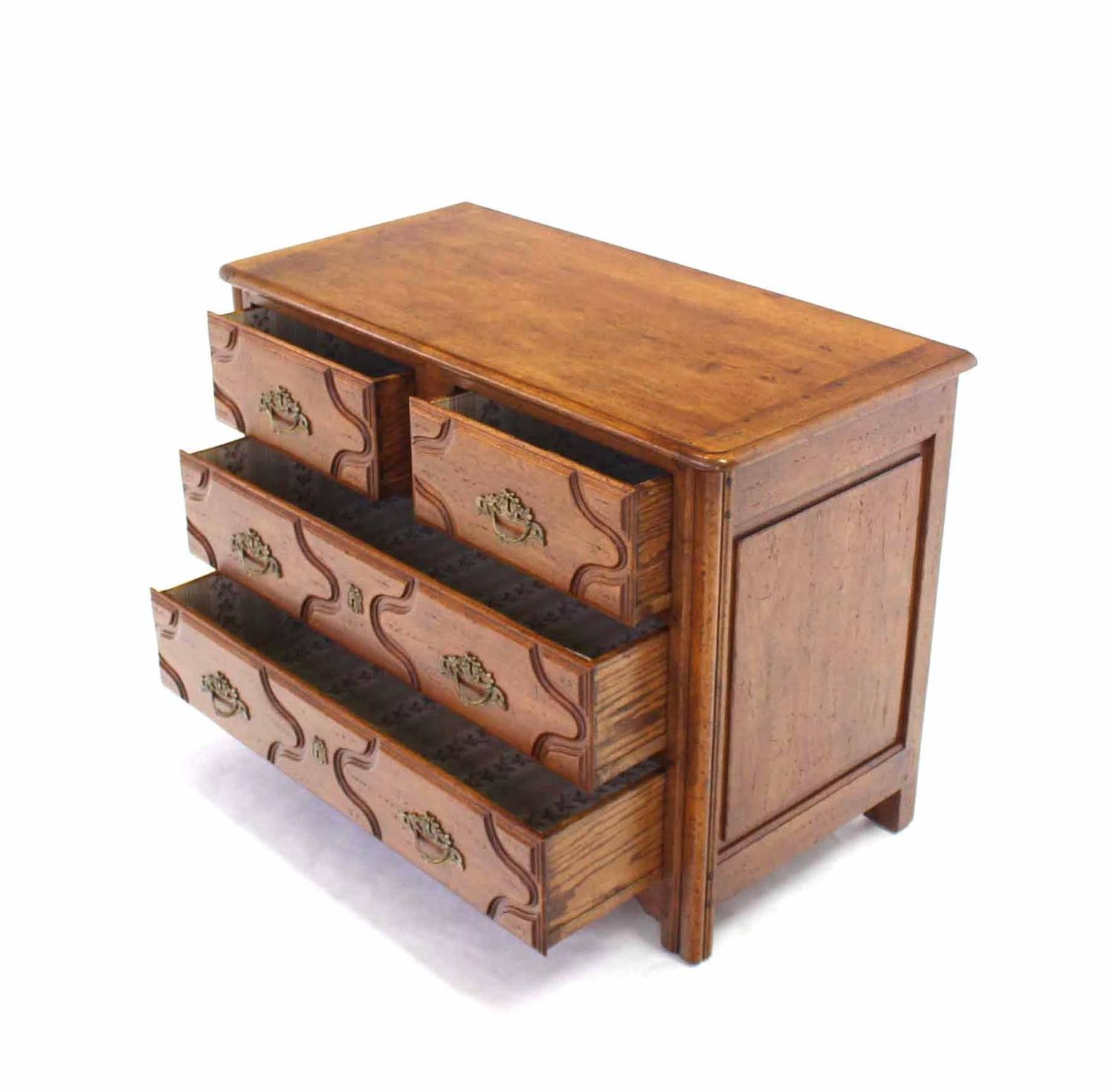 Solid wood gothic three drawer chest of drawers for sale