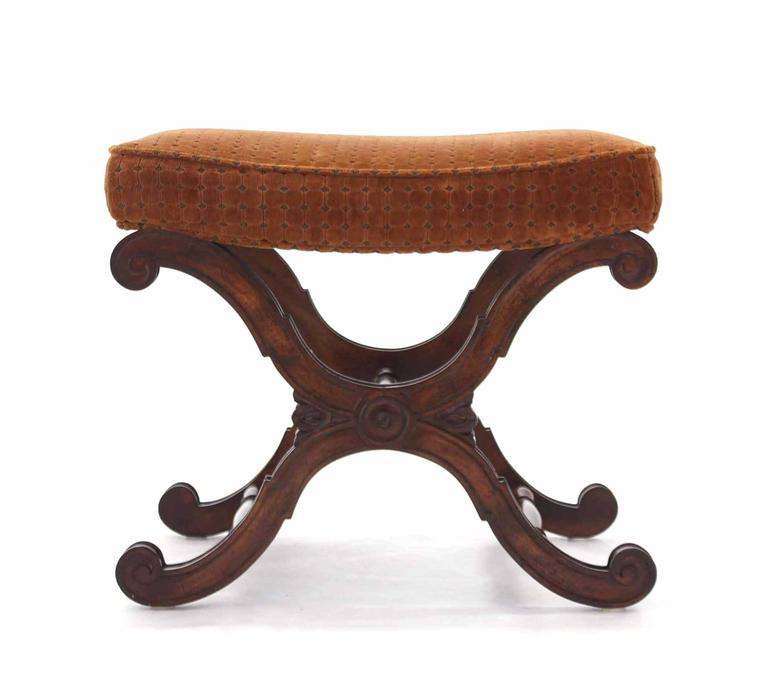 20th Century Decorative X-Base Bench For Sale