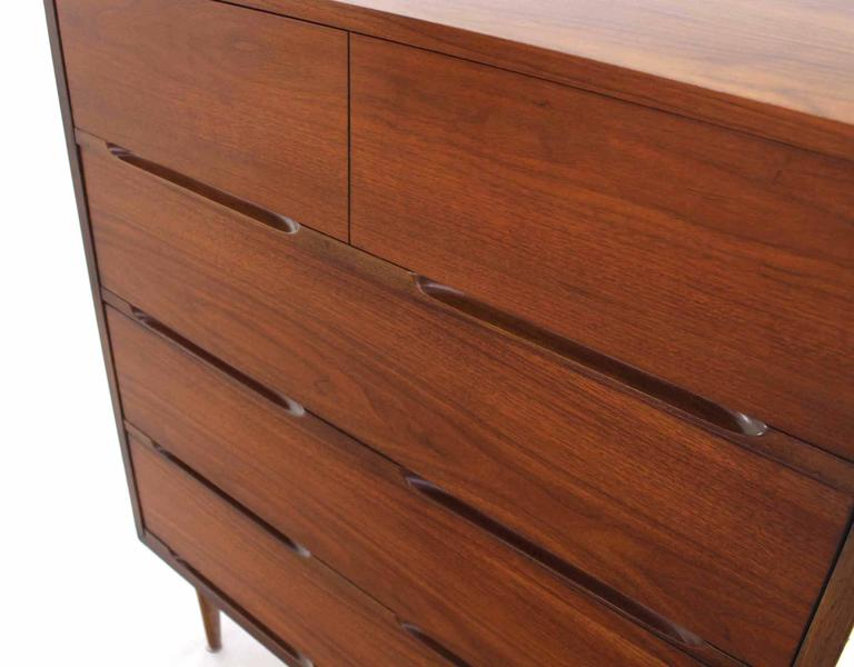 American Pair of Danish Modern Walnut High Chests For Sale