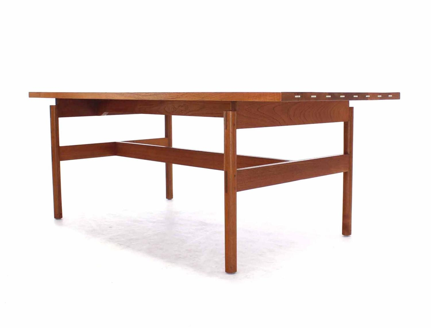 Unusual heavy solid teak top desk writing table for sale for Unusual writing desks