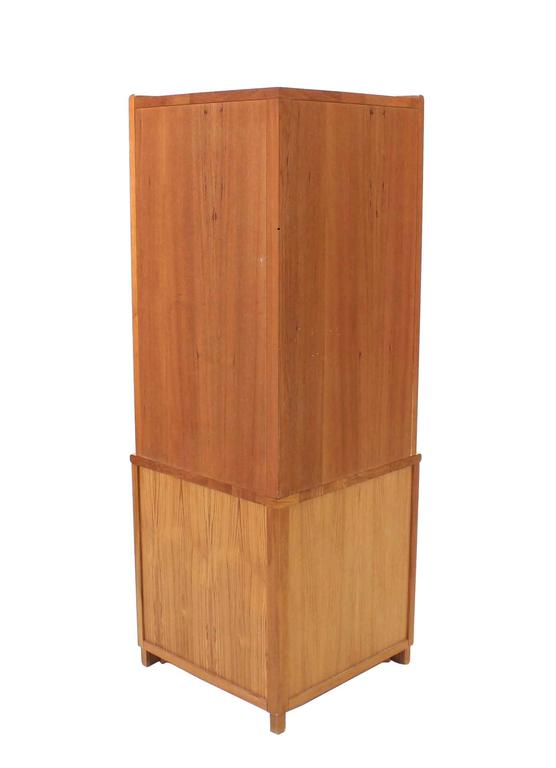 Solid Teak Danish Modern Corner Cabinet For Sale At 1stdibs
