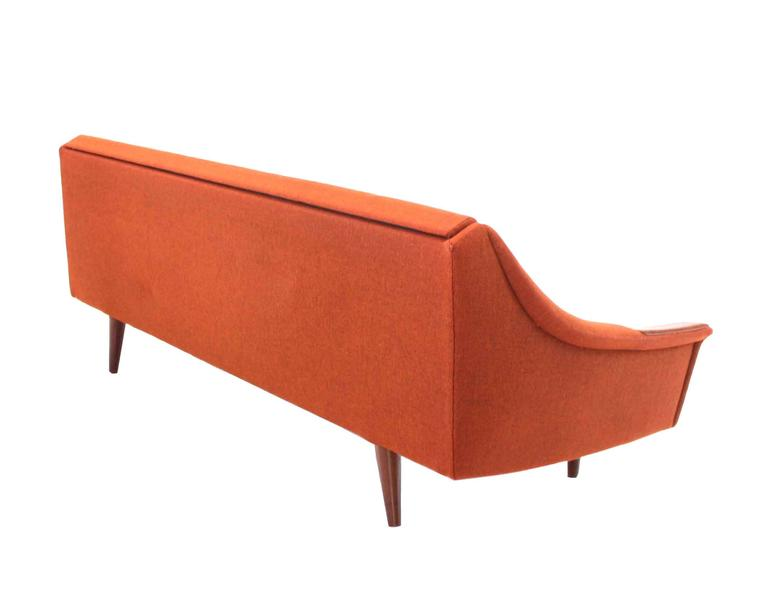 Rare Danish Modern Convertible Brick Wool Upholstery Daybed Sofa For Sale 3