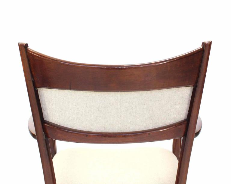 20th Century Set of Six Italian Modern Dining Chairs with New Upholstery For Sale
