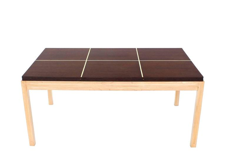 Lacquered Two tone Dining Table with Two Leaves For Sale