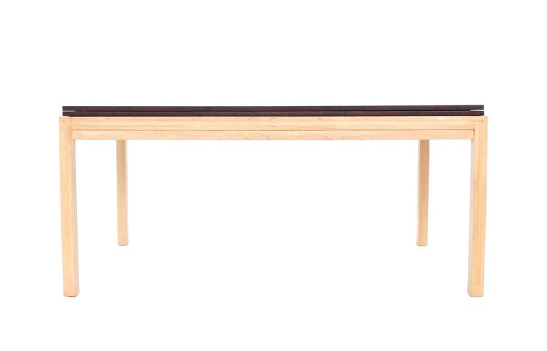 Birch Two tone Dining Table with Two Leaves For Sale