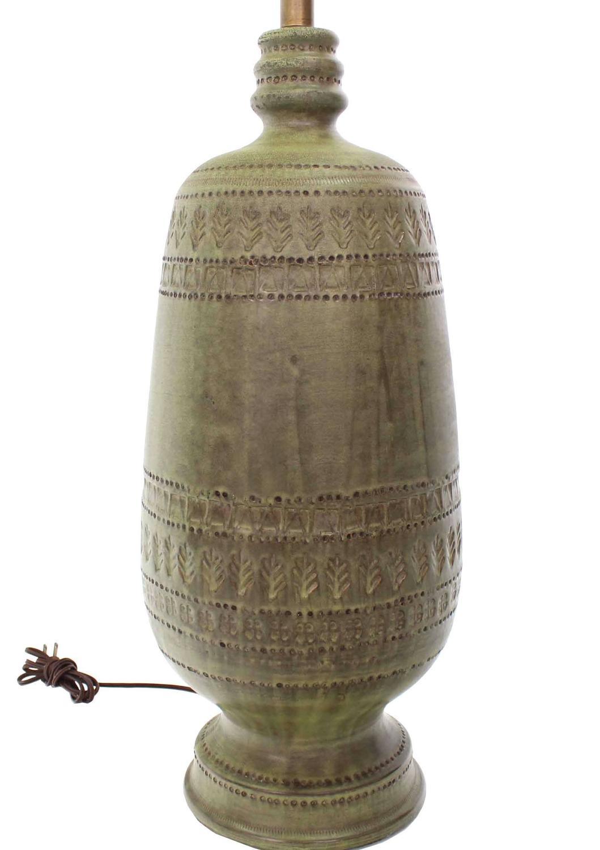 Pottery Vase Shape Base Table Lamp At 1stdibs