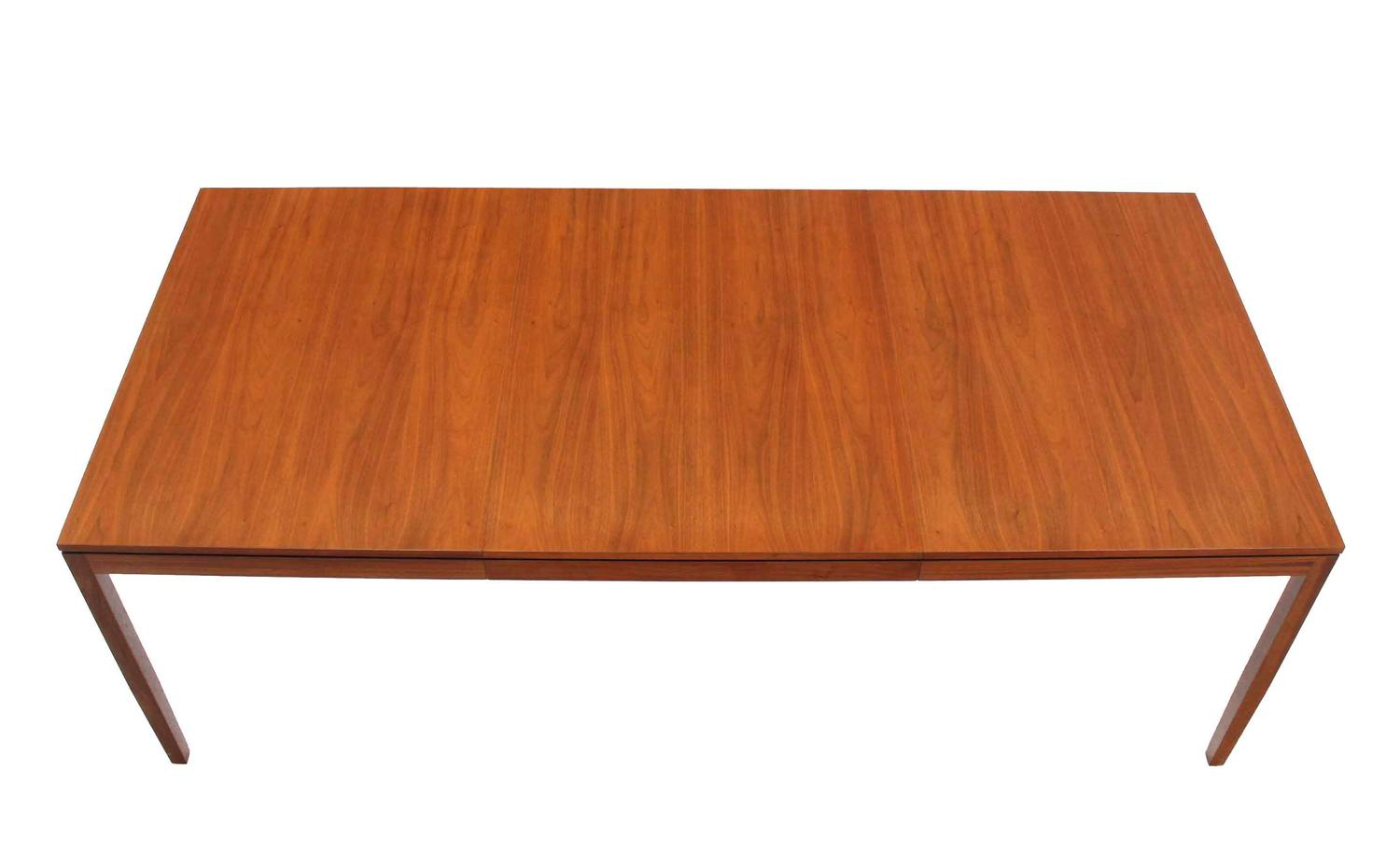 outstanding quality walnut dining room table by knoll at