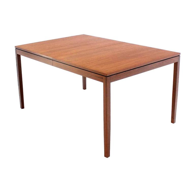 Outstanding quality walnut dining room table by knoll at for Good quality dining tables