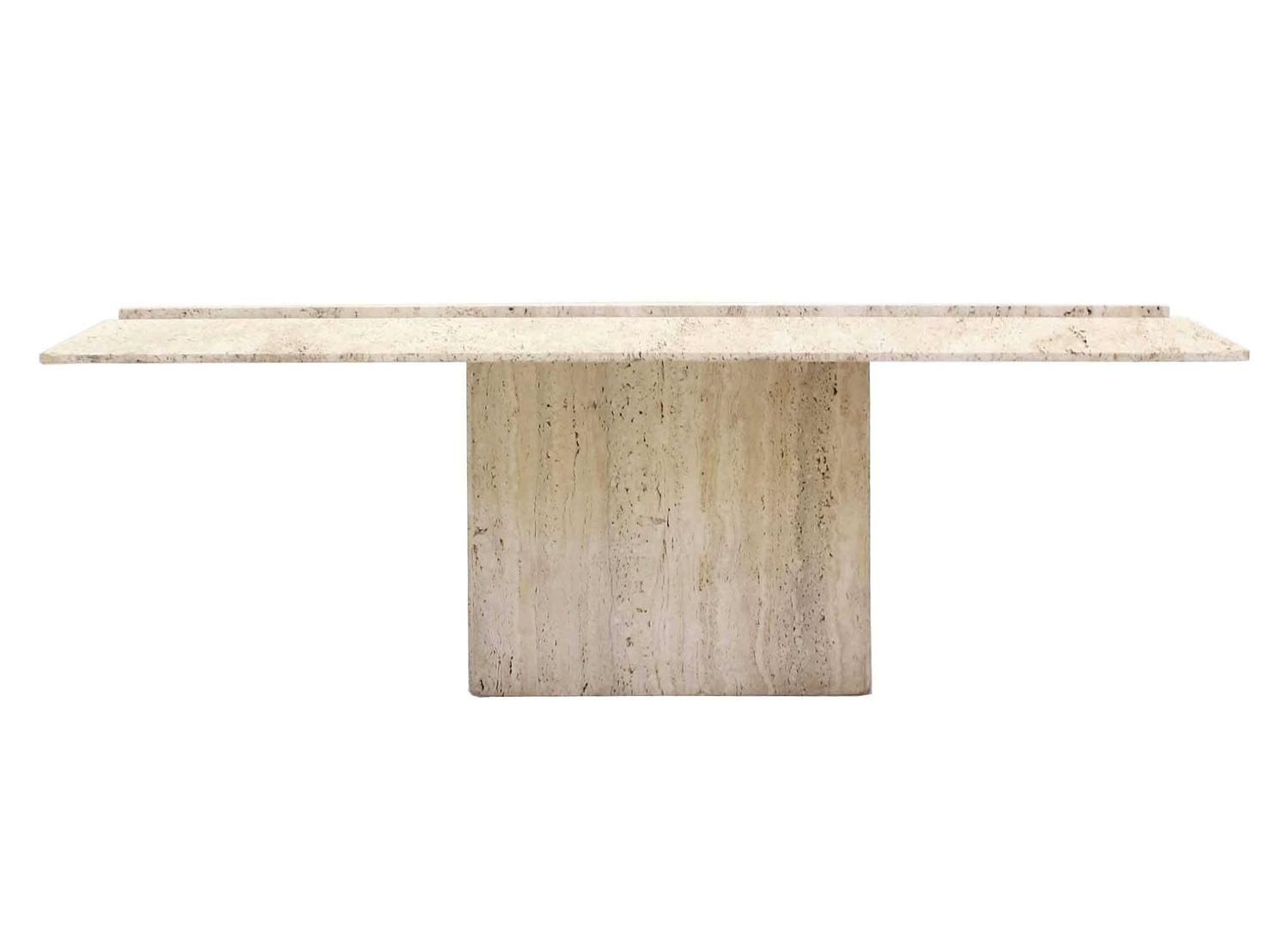 Square Travertine Base And Top Coffee Table For Sale At 1stdibs