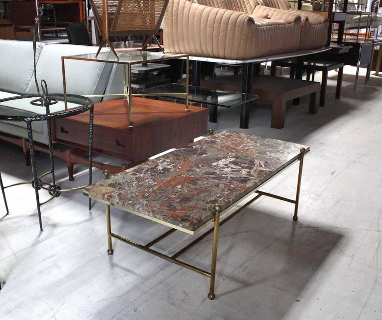 Brass And Marble Mid-Century Modern Coffee Table At 1stdibs