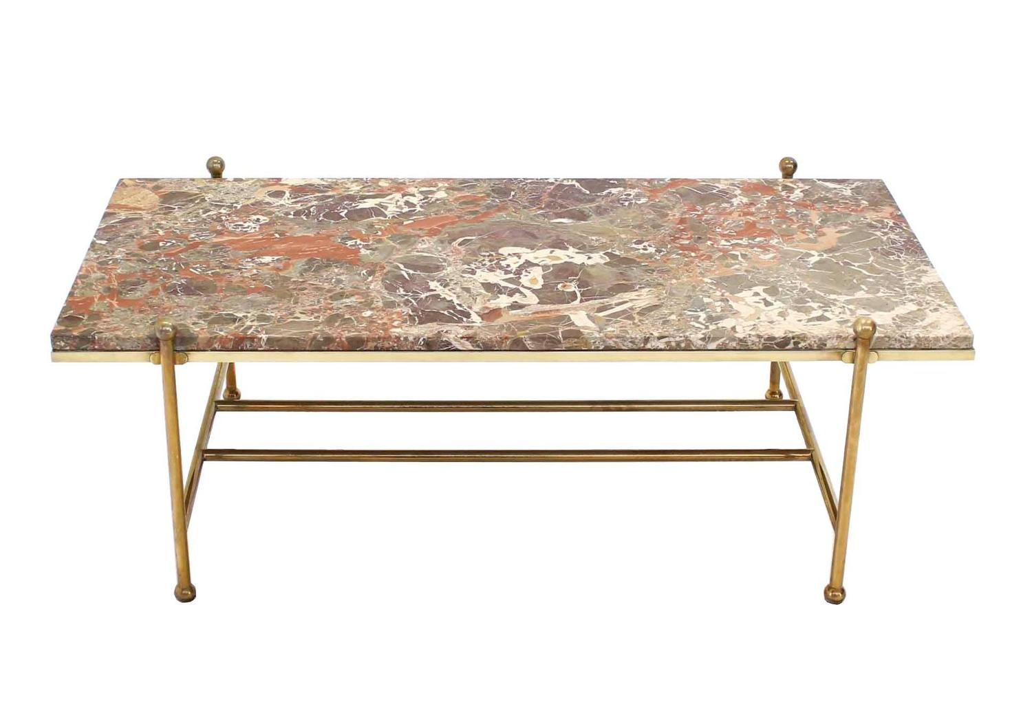 Brass And Marble Mid Century Modern Coffee Table For Sale At 1stdibs