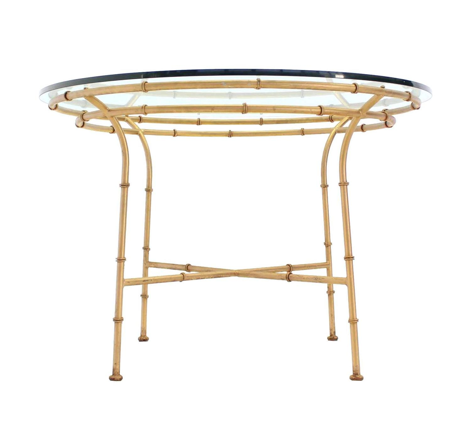 Faux Bamboo X Base Round Dining Table For Sale At 1stdibs