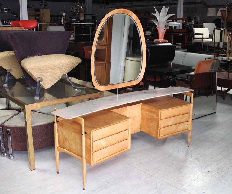 Mid Century Italian Modern Vanity Dressing Table For Sale At 1stdibs