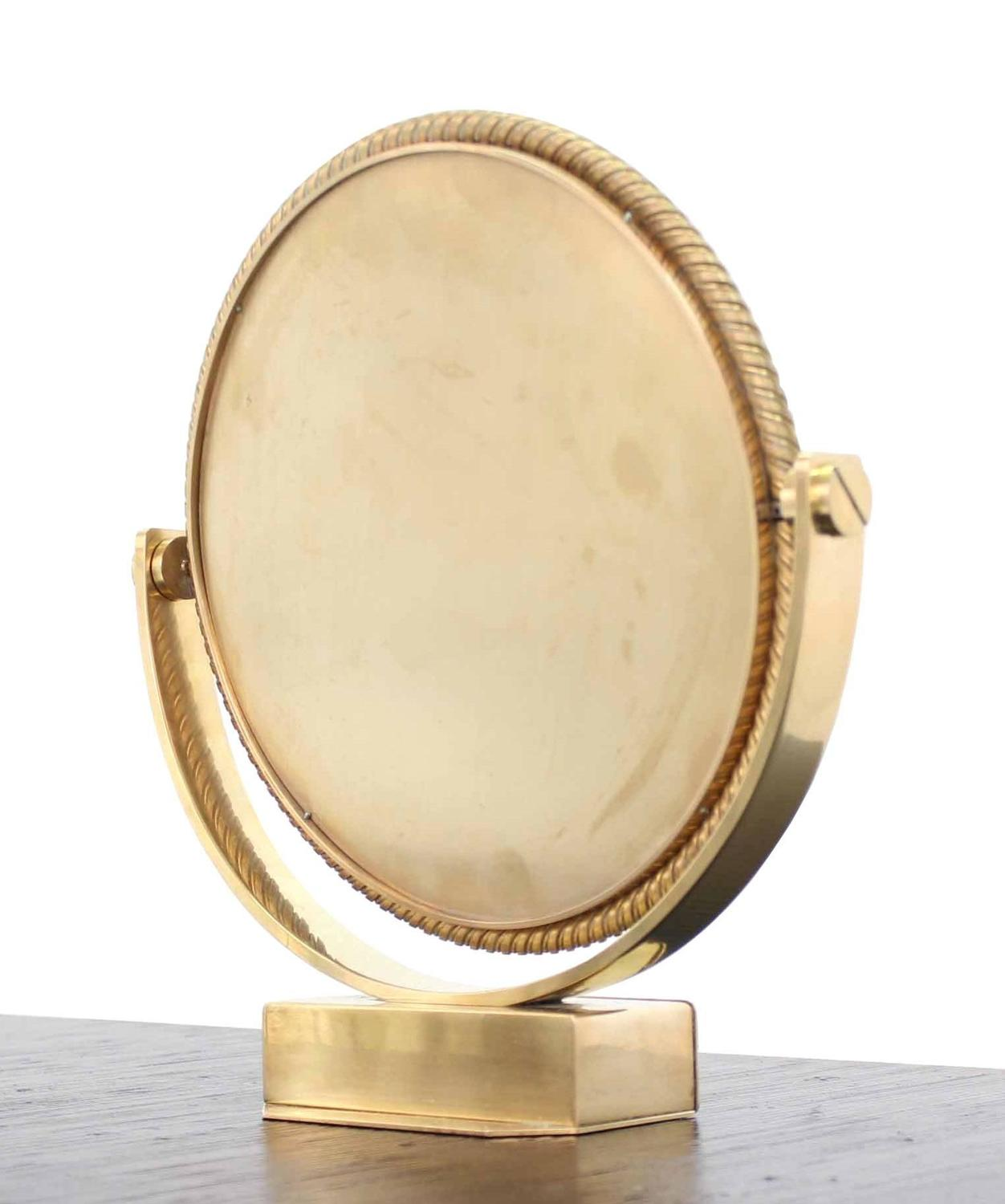 Heavy solid bronze swiss made shaving mirror for sale at for Shaving mirror