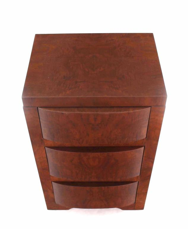 American Three-Drawer Art Deco End Table or Nightstand For Sale