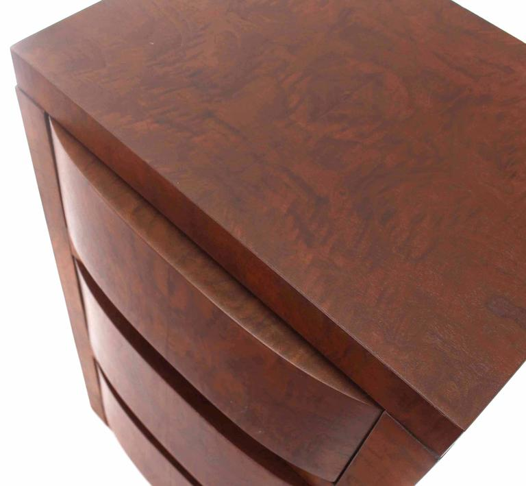 Three-Drawer Art Deco End Table or Nightstand In Excellent Condition For Sale In Rockaway, NJ