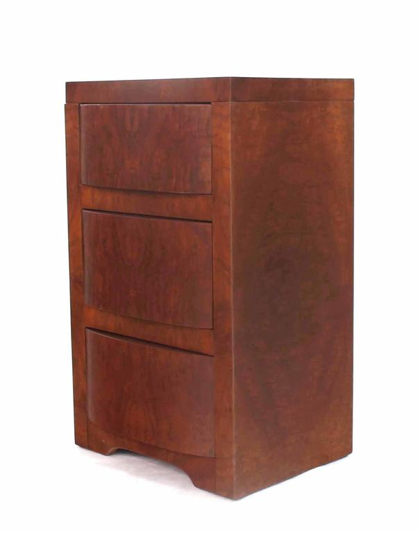 Three-Drawer Art Deco End Table or Nightstand For Sale 1