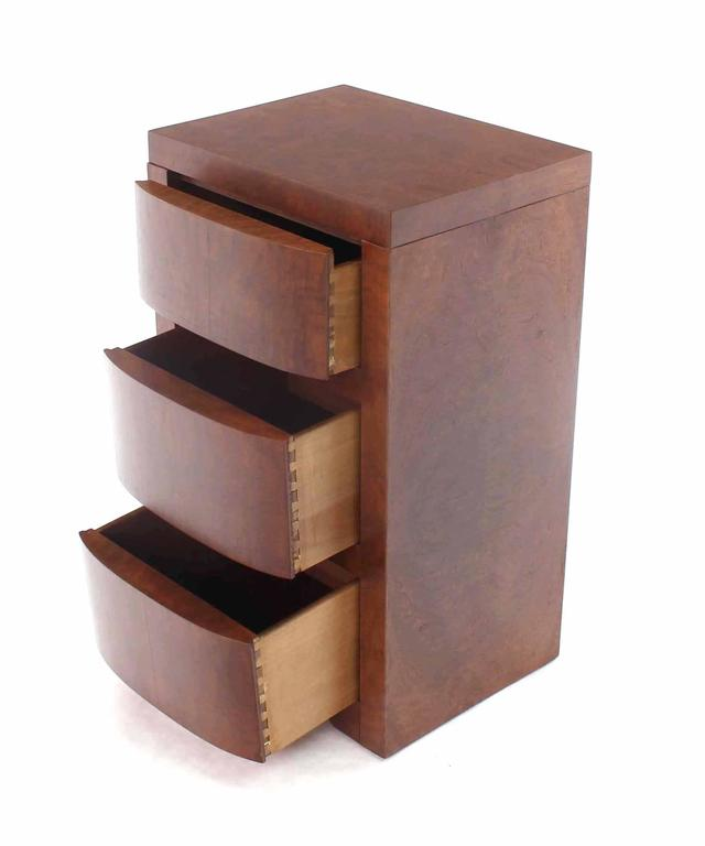 Three-Drawer Art Deco End Table or Nightstand For Sale 2