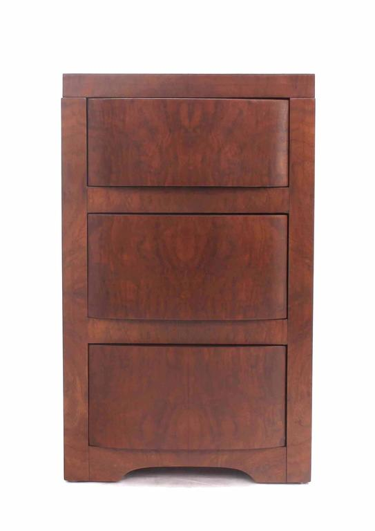 Three-Drawer Art Deco End Table or Nightstand For Sale 3