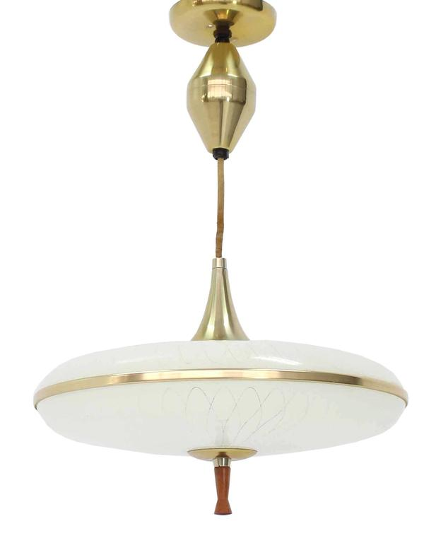 20th Century Retractable Adjule Height Light Fixture For