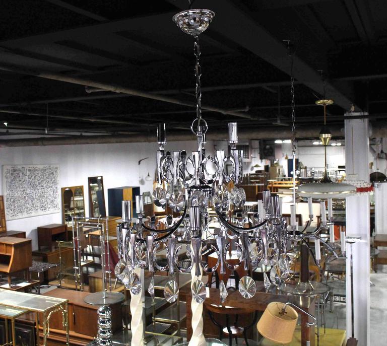 American Mid-Century Modern Light Fixture Chandelier For Sale