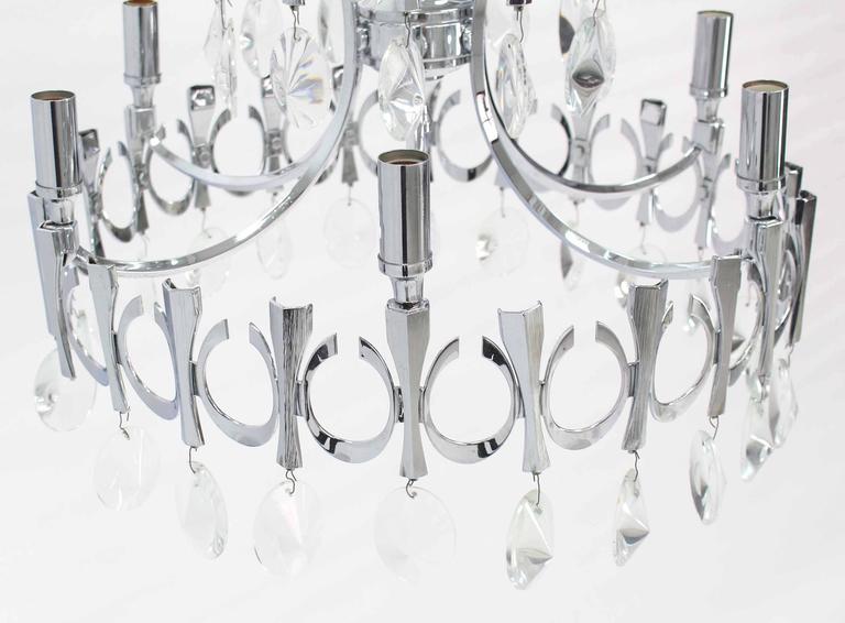 Mid-Century Modern Light Fixture Chandelier In Excellent Condition For Sale In Rockaway, NJ