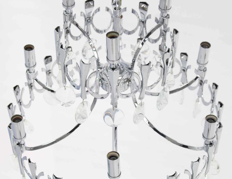 Mid-Century Modern Light Fixture Chandelier For Sale 1