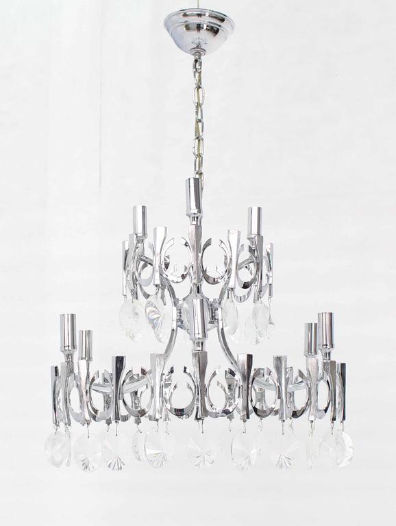 Mid-Century Modern Light Fixture Chandelier For Sale 4