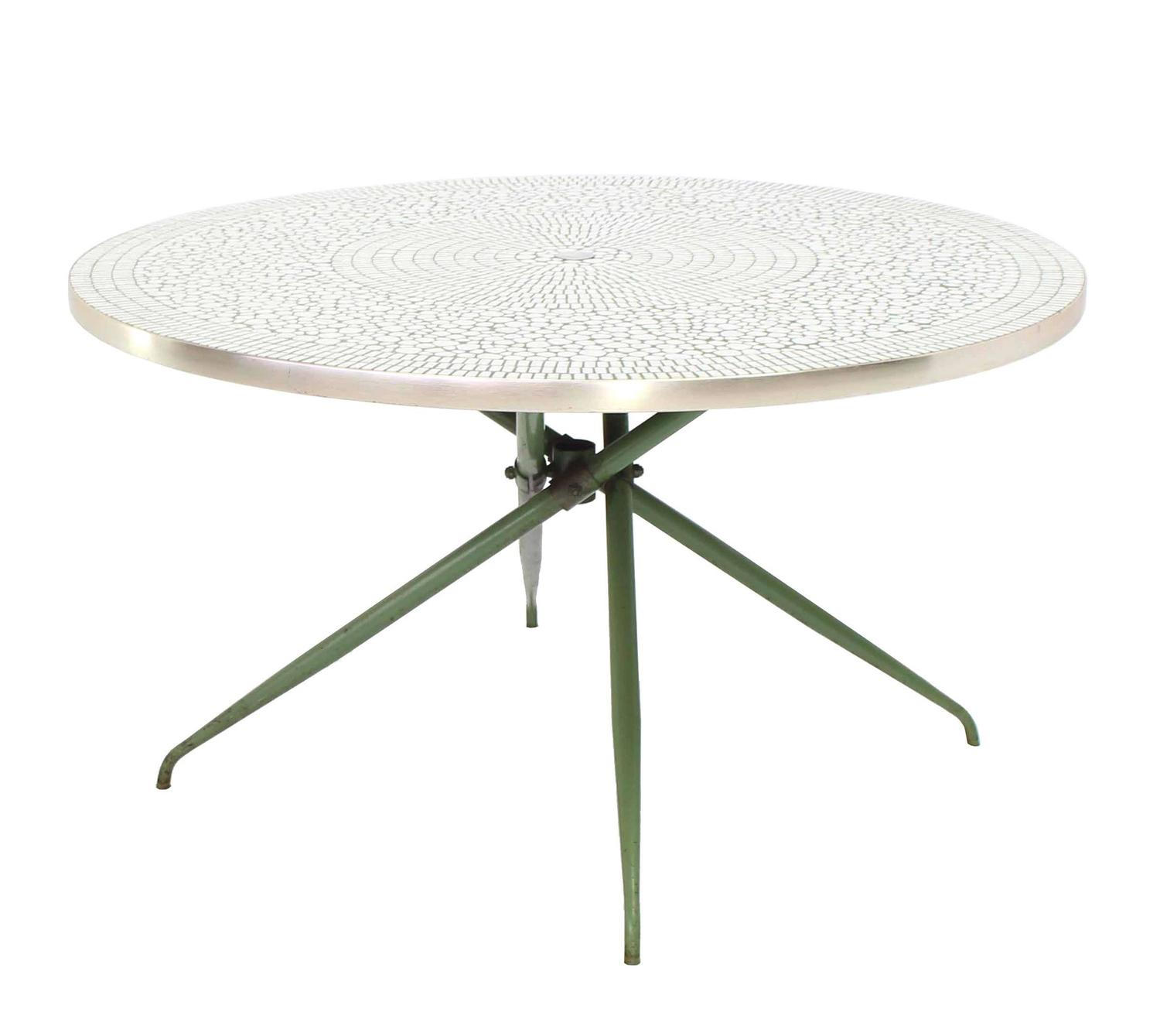Mosaic Top Round Outdoor Table For Sale At 1stdibs