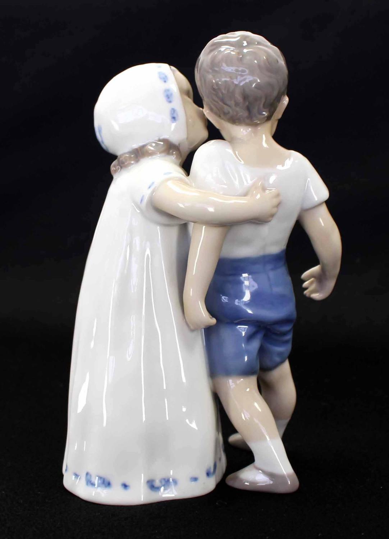 girl kissing boy royal copenhagen porcelain figurine at. Black Bedroom Furniture Sets. Home Design Ideas