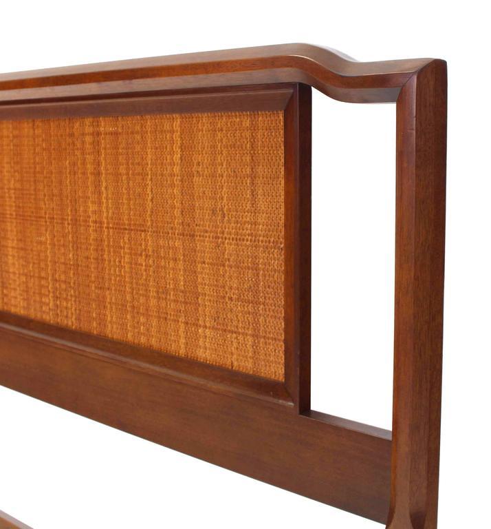 King-Size Walnut Headboard Bed 1