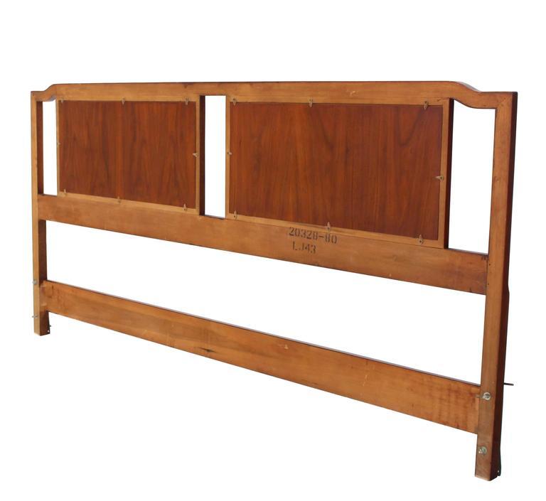 King-Size Walnut Headboard Bed 2