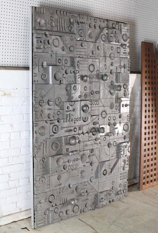 Large Wall Panel Cast Metal Vivid Details Puzzle Secret