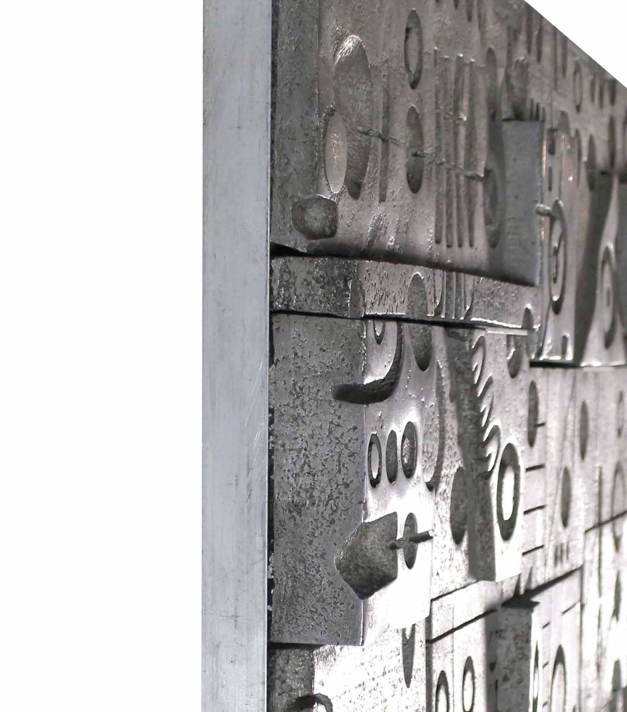 Unusual Door Panel Cast Metal Vivid Details Puzzle Secret