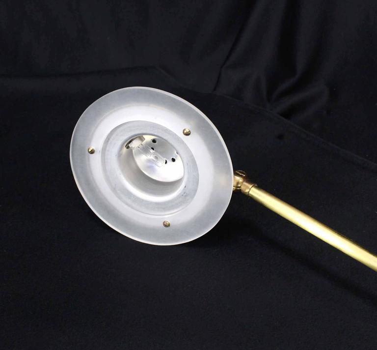 Mid Century Reading Lamp: Adjustable Mid-Century Modern Reading Floor Lamp For Sale