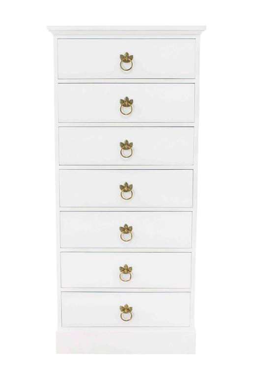 American Tall Seven Drawer Lingerie Chest by Grosfeld House For Sale