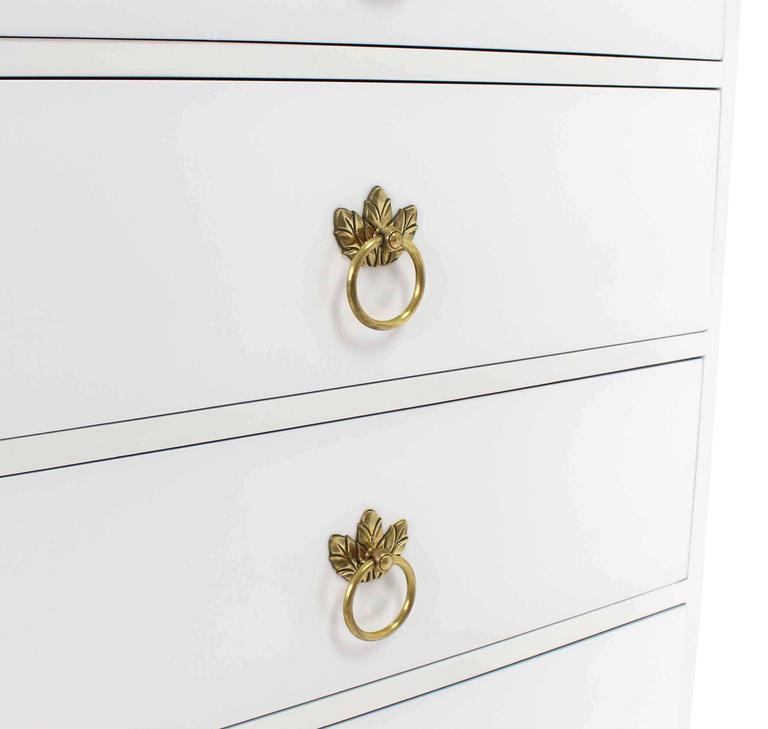 Tall Seven Drawer Lingerie Chest by Grosfeld House In Excellent Condition For Sale In Blairstown, NJ