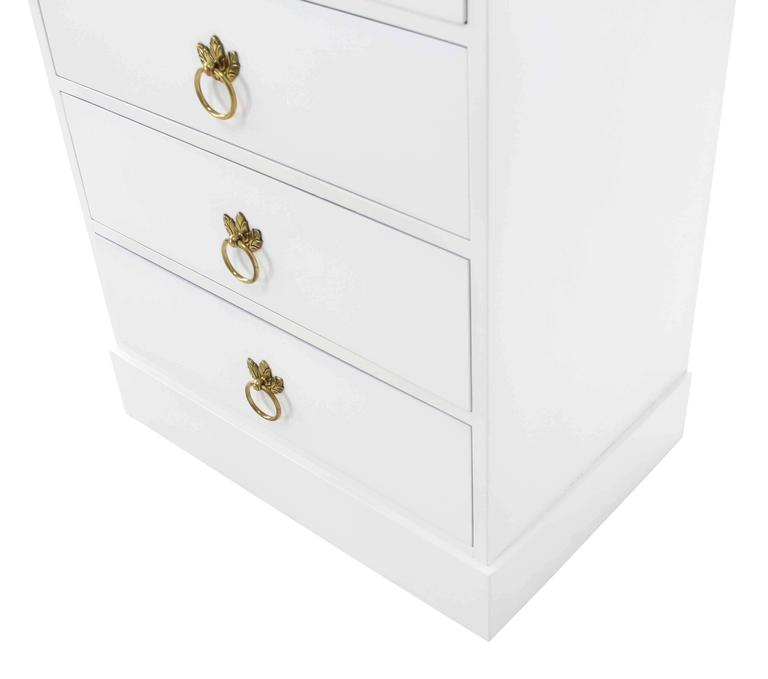 Tall Seven Drawer Lingerie Chest by Grosfeld House For Sale 2