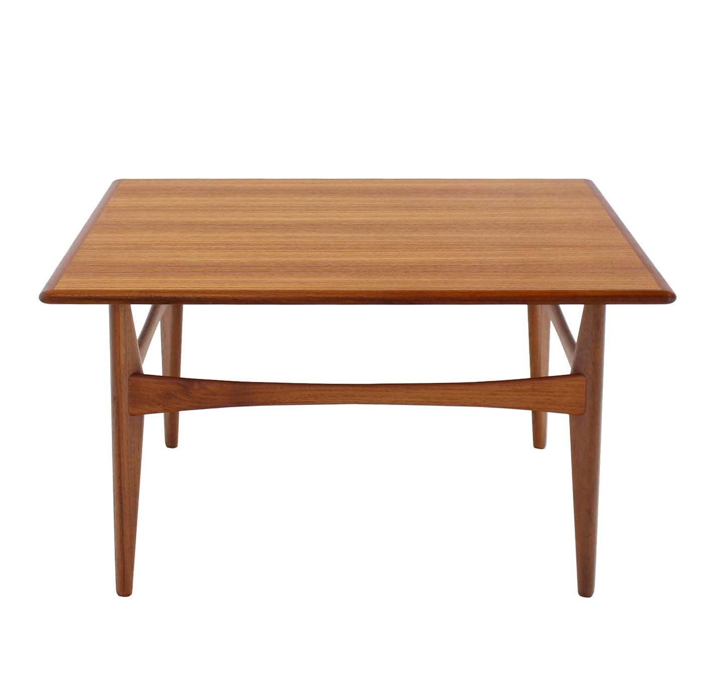 Danish Mid Century Teak Coffee Table 1 Small: Danish Mid-Century Modern Teak Square Coffee Side Table