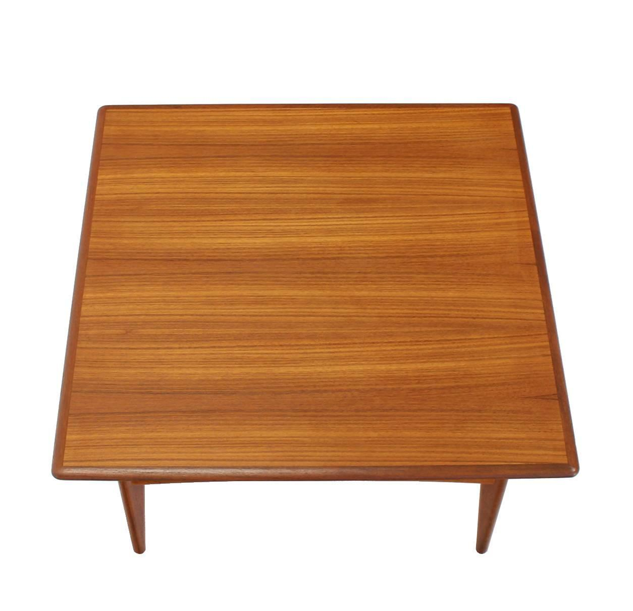 Danish Mid-Century Modern Teak Square Coffee Side Table