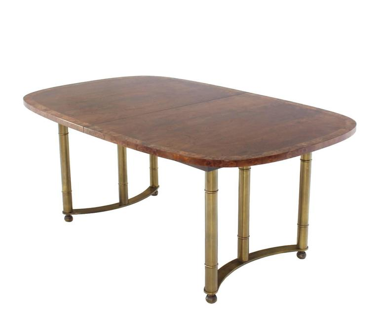 Mastercraft Burl Wood Oval Dining Table with Two Leaves at  : IMG6565l from www.1stdibs.com size 768 x 654 jpeg 19kB