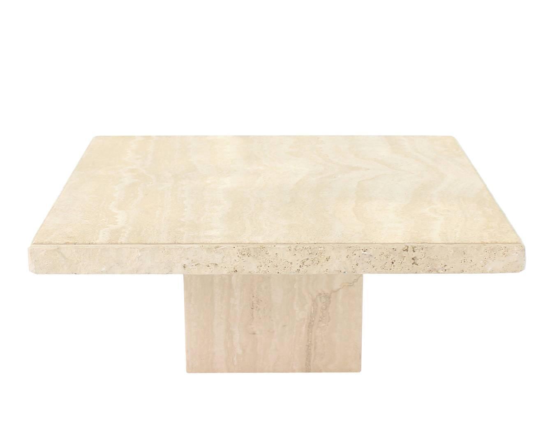 Square Black Metal Coffee Table