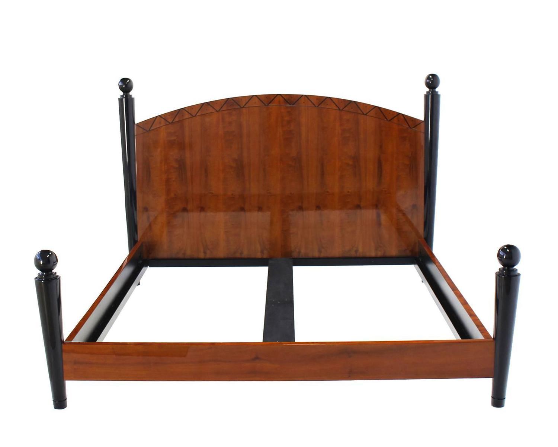 king size headboard footboard bed for sale at 1stdibs. Black Bedroom Furniture Sets. Home Design Ideas
