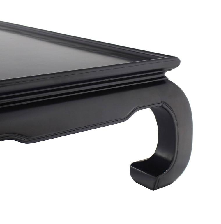 Large Black Lacquer Oriental Style Coffee Table For Sale At 1stdibs