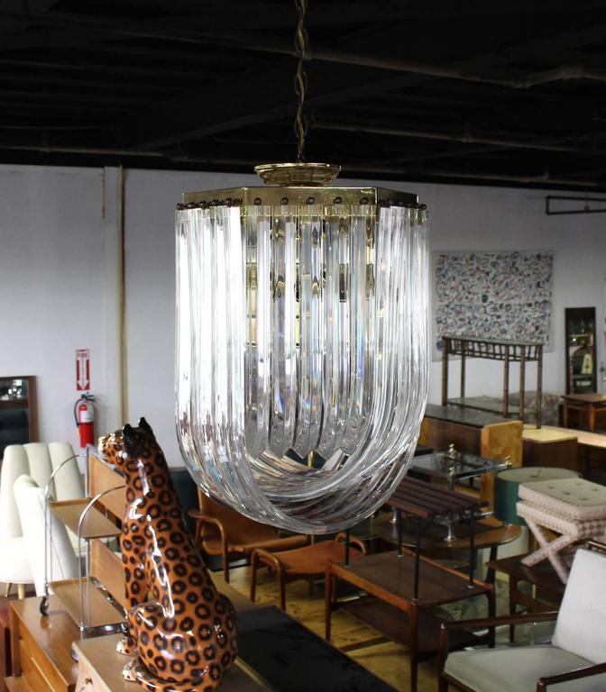 Very nice Mid-Century Modern Lucite light fixture.