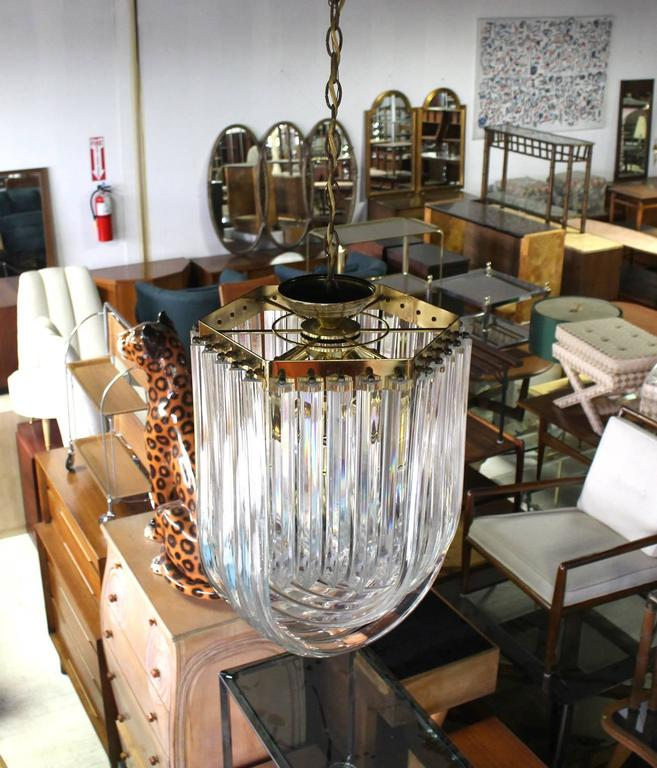 Bent Lucite Mid-Century Modern Large Light Fixture In Excellent Condition For Sale In Rockaway, NJ